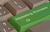 Hot key for marketing success — Stock Photo