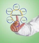 Diagram of stakeholder — Zdjęcie stockowe