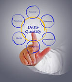 Diagram of data quality — Stock Photo