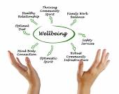 Diagram of Wellbeing — Stock Photo