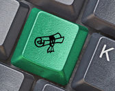 Keyboard with key for education — Stock Photo