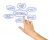Advantages of Cloud Computing — Stock Photo