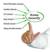 Diagram of Home Security — Stock Photo
