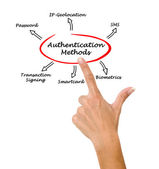 Diagram of Authentication — Stock Photo