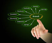 Diagram of brand — Stock Photo