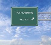 Road sign to asset allocation, insurance planning, tax planning — Stock Photo