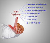 We Value — Stock Photo