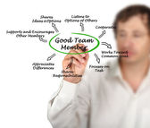 Characteristics of Good Team Member — Stock Photo