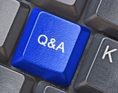 Hot key for questions and answers — Stock Photo