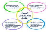 Diagram of Cloud Compliant Suite — Stock Photo