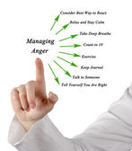 How to manage anger — Stock Photo