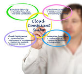 Diagram of Cloud Compliant Suite — Stock Photo
