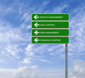 Direction road to project management — Stock Photo
