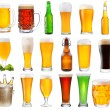 Set with various glasses and bottles of beer — Stock Photo #53824085