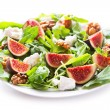 Plate of salad with fresh figs  — Stock Photo #55464383
