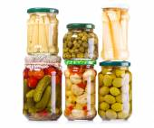 Various preserved food — Stock Photo