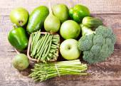 Green fruit and vegetables — Stock Photo
