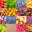 Collage of various fruit and vegetables — Stock Photo #58760713