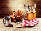 Vintage kitchen utensils — Zdjęcie stockowe