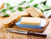 Burro con pane — Foto Stock