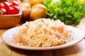 Sauerkraut in a plate — Stock Photo