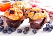 Muffins with blueberries  — Stock Photo