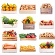 Set of various fruits and vegetables — Stock Photo #77852886