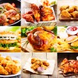 Collage of various chicken products — Stock Photo #83788224