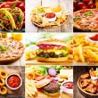 Collage of  fast food products — Stock Photo #83788192