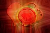 Pop-art love background  — Stock Photo