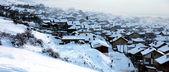 Small village in winter  — Foto de Stock