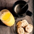 Coffe and juice — Stock Photo #61441969