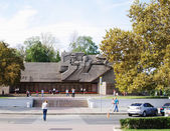 RUSSIA,SEVASTOPOL,SEPTEMBER,18,2014: View of  memorial of heroic defense of Sevastopol 1941-1942 years. — Stock Photo