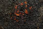Soot on metal background — Stock Photo