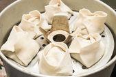 Steamed dumplings with meat — Foto Stock