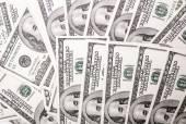 100 dollar bills background — Stock Photo