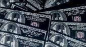 American Dollars inverted — Stock Photo