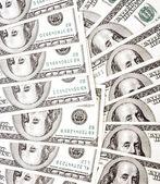 Benjamin Franklin 100 dollar bills — Stock Photo