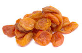 Apricots dried on a white — Stock Photo