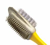 Old brush for shoe — Stock Photo