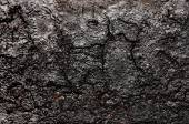 Black soot on the metal — Stock Photo