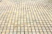 Square cobbles in perspective — Stock Photo