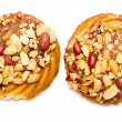 Cookies with peanuts on a white — Stock Photo #69871969
