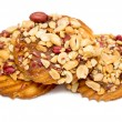 Cookies with peanuts on a white — Stock Photo #69871987