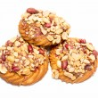 Cookies with peanuts on a white — Stock Photo #69871993