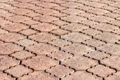 Cobbles in perspective, background — Stock Photo