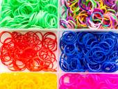 Rubber bands on a white — Stock Photo