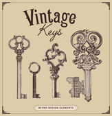 Vintage keys — Stock Vector