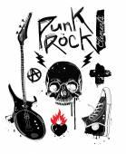 Punk Rock Elements — Stock Vector