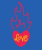 Lettere di amore — Vettoriale Stock